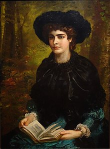 Constance Lloyd. Painting by Louis Desanges 1882