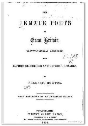 Constantia Grierson - Female Poets of Great Britain, Rowton