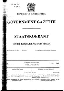 Constitution of the Republic of South Africa Amendment Act 1996 from Government Gazette.djvu