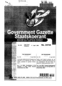 Constitution of the Republic of South Africa Second Amendment Act 2003 from Government Gazette.djvu