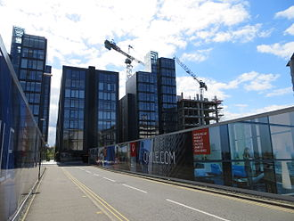 Quartermile - Construction at the western end progressing as of May 2014