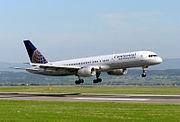 Boeing 757-200 lands at Bristol International Airport, England