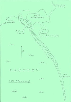 Coorong National Park - A map of the Coorong