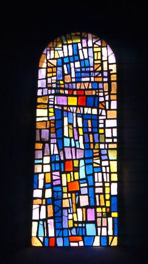 Roger Bissière - Church of Cornol (Switzerland), window by Bissière (1958)