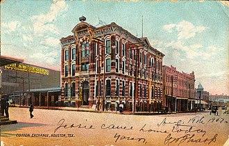 1884 Houston Cotton Exchange Building - Image: Cotton Exchange Building, Houston, Texas (1907)