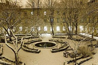 École Normale Supérieure - The school's Cour aux Ernests under a coat of snow.