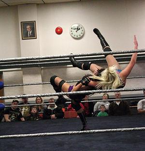 Rosemary (wrestler) - Rush executing the Skyward Suplex.