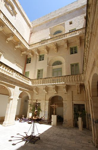 Admiralty House (Valletta) - Courtyard at Admiralty House