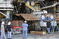 Crawler-Transporter 2 undergoing gear box maintenance (KSC-2014-1892).jpg