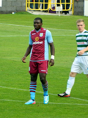 Jores Okore - Okore playing for Aston Villa in 2013