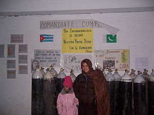 Rawalakot - 2005 earthquake relief in Rawalakot. Cuban Field Hospital.