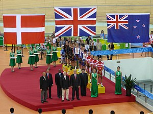 Great Britain at the 2008 Summer Olympics - Medal ceremony at the men's team pursuit.