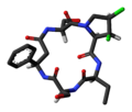Cyclochlorotine 3D skeletal.png