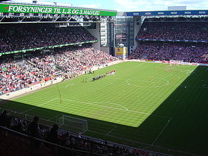 Danish Cup - The 2003/04 season finale between F.C. Copenhagen and AaB in Parken Stadium.