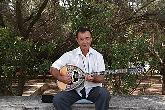 Bouzouki - Bouzouki player in Athens, July 2018
