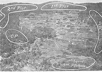 Battle of Ka-san - D Company's defensive lines atop Hill 755.