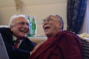 Marco Pannella -  Marco Pannella with the Dalai Lama.