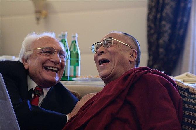 Tenzin Gyatso, 14th Dalai Lama with Marco Pannella