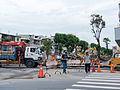 Damaged Kaixuan 2nd Road under Construction 20140811.jpg