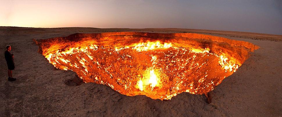 Darvasa gas crater panorama crop