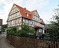 """Das """"Blaue Haus"""" - Fachwerkwohnhaus von 1816 einer Hofanlage (Hofseite) - Meinhard-Grebendorf Sandstraße 24 - panoramio.jpg"""