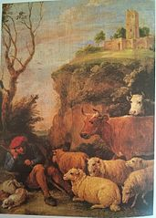 A Shepherd Daydreaming with his Flock