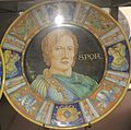 David Zipiroc piatto con ritratto di guerriero (dal Mantegna).jpg