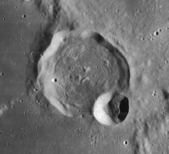 Davy (crater) - Lunar Orbiter 4 image