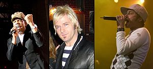 DC Talk - DC Talk members left to right: Michael Tait, Kevin Max Smith, Toby McKeehan