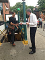 De Blasio at TWU Day of Action to Restore Station Booths & Agents (8972411869).jpg