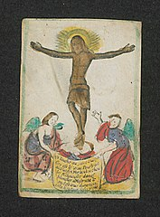 The Black Christ of Wyck with two angels (r13)
