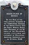 Death Place of Roxas historical marker.jpg
