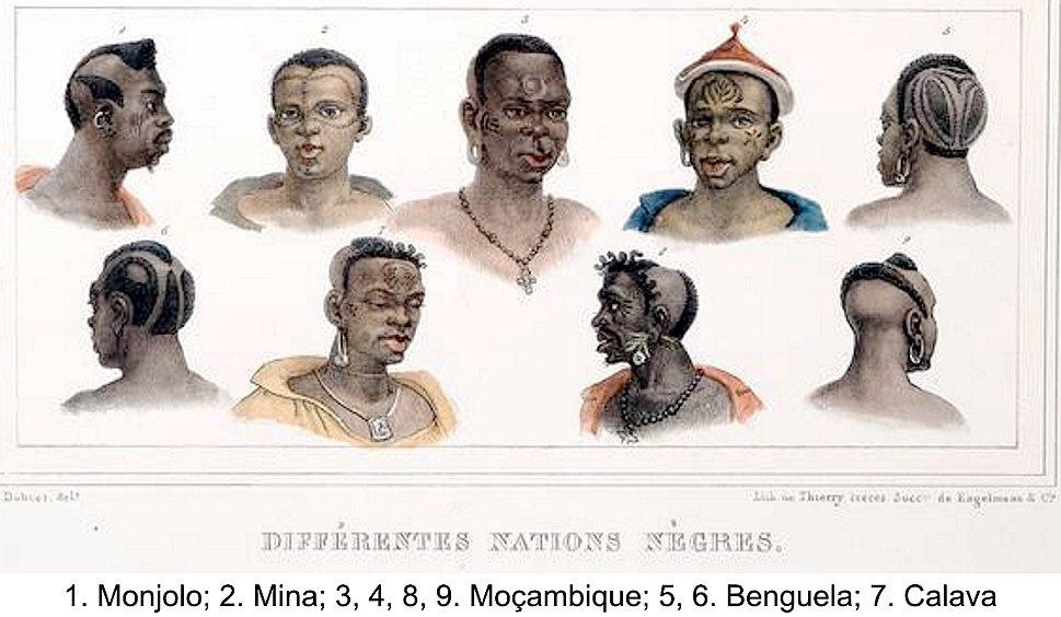 Debret - Diferentes Nacoes Negras