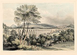 Dee Viaduct: vale of Llangollen