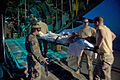 Defense.gov News Photo 110523-F-DT527-523 - Members of the 451st Expeditionary Aeromedical Evacuation Squadron load a wounded Marine onto a C-130 Hercules aircraft at Camp Bastion.jpg
