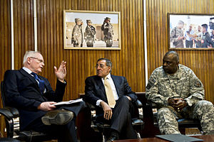 Lloyd Austin - Austin meeting with US ambassador to Iraq James Jeffrey (left) and Secretary of Defense Leon Panetta (center) in 2011