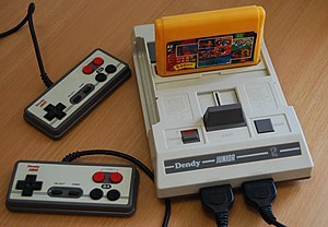 Dendy (console) - Image: Dendy Junior with cart and joypads