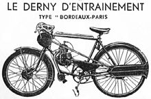 An illustration of a derny.