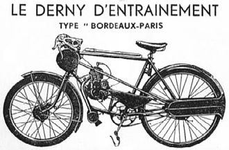 Motor-paced racing - Derny publicity material