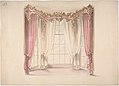 Design for Pink Curtains and White Inner Curtains, with a Gold, White and Pink Pediment MET DP807335.jpg