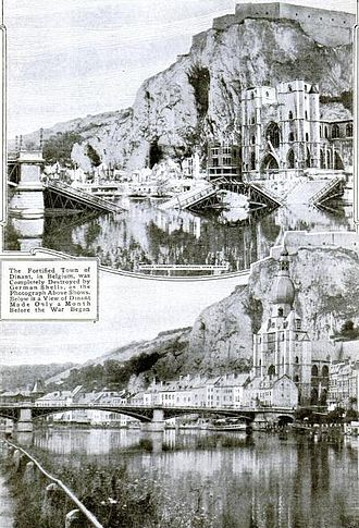Battle of Dinant - The town of Dinant before and after the battle and massacres