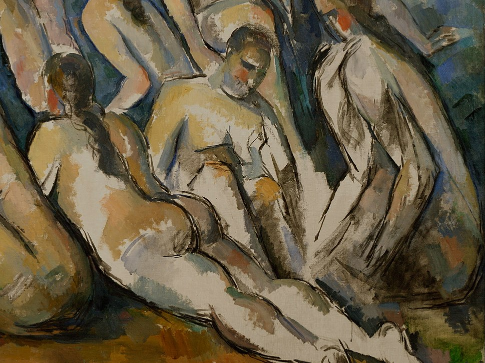 Detail from Paul Cézanne, French - The Large Bathers - Google Art Project