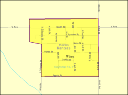 Detailed map of Wilsey, Kansas