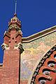 Detalle de una torre del Mercado de Colón.jpg