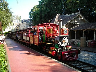 Rail transport in Walt Disney Parks and Resorts - Image: Disneyland 200707 Number 5 New Orleans Square