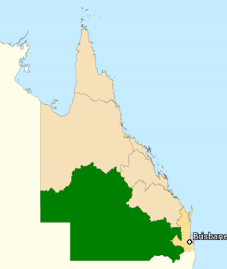 Division of Maranoa - Division of Maranoa in Queensland, as of the 2016 federal election.