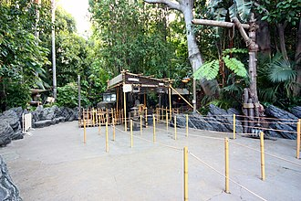 Indiana Jones Adventure - Entrance to the queue. Guests may obtain a single-rider pass from any cast member working here.