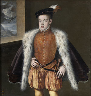 Doublet (clothing) - Alonso Sanchez Coello, Prince Don Carlos of Spain wearing doublet