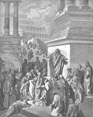 Jonah - Jonah Preaching to the Ninevites (1866) by Gustave Doré