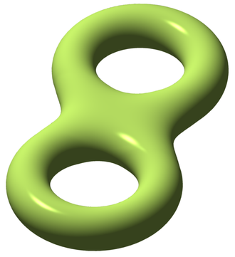 Field (mathematics) - A compact Riemann surface of genus two (two handles). The genus can be read off the field of meromorphic functions on the surface.